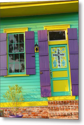 Metal Print featuring the photograph Mardi Gras House by Jeanne  Woods