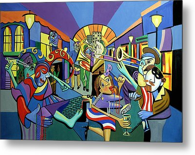 Mardi Gras Lets Get The Party Started Metal Print