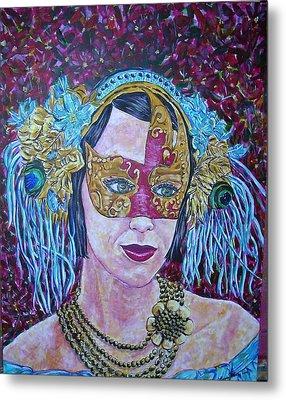 Mardi Gras Metal Print by Linda Vaughon