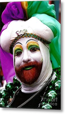Metal Print featuring the photograph Mardi Gras New Orleans La by Michael Hoard