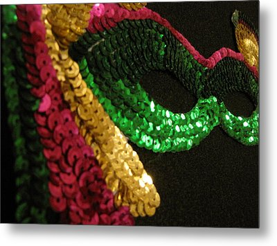 Metal Print featuring the photograph Mardi Gras Time by Beth Vincent