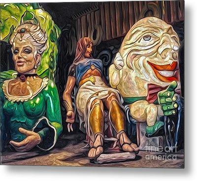 Mardi Gras World - Humpty Dumpty And Showgirls Metal Print by Gregory Dyer