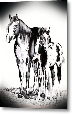 Mare And Colt Metal Print by Cheryl Poland