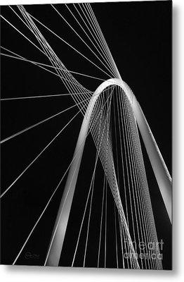 Margaret Hunt Hill Bridge Dallas Texas Metal Print by Robert ONeil