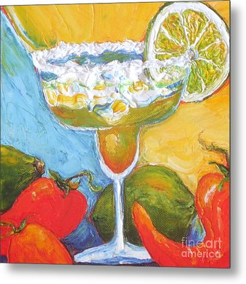 Margarita And Chile Peppers Metal Print by Paris Wyatt Llanso