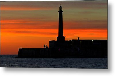 Margate Pier Sunset Metal Print