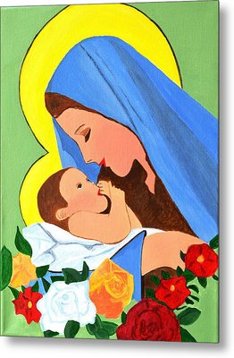 Maria And Baby Jesus Metal Print by Magdalena Frohnsdorff