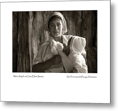Metal Print featuring the photograph Maria Angela And Jose Elmer Santos by Tina Manley