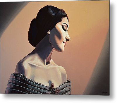 Maria Callas Painting Metal Print by Paul Meijering