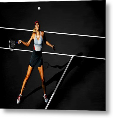 Maria Sharapova Metal Print by Brian Reaves