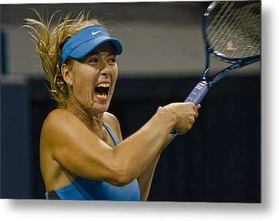 Maria Sharapova Metal Print by David Long