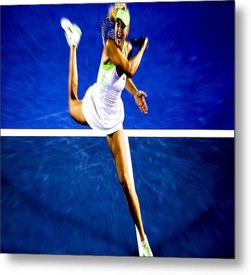 Maria Sharapova In A Zone Metal Print