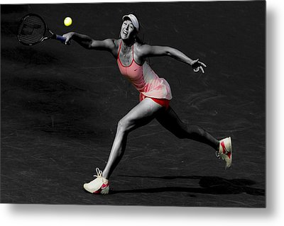 Maria Sharapova Reaching Out Metal Print by Brian Reaves