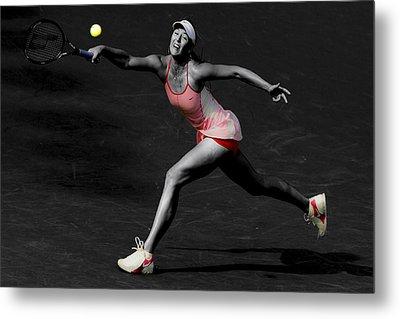 Maria Sharapova Reaching Out Metal Print