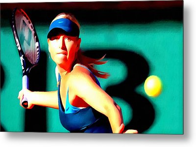Maria Sharapova Tennis Metal Print by Lanjee Chee