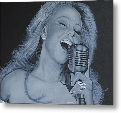 Metal Print featuring the painting Mariah Carey by David Dunne
