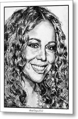 Mariah Carey In 2012 Metal Print by J McCombie