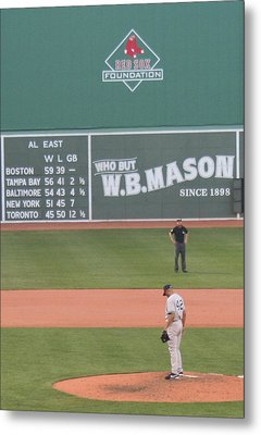 Mariano On The Mound Metal Print by Stephen Melcher
