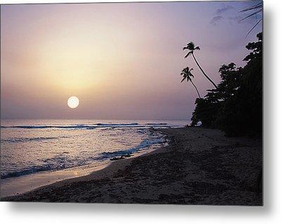 Marias Beach Sunset Rincon Puerto Rico Metal Print by George Oze