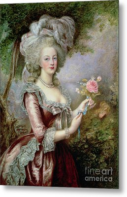 Marie Antoinette After Vigee Lebrun Metal Print by Louise Campbell Clay