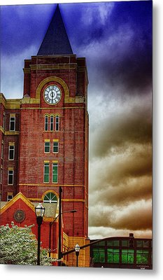 Metal Print featuring the photograph Marietta Clock Tower by Dennis Baswell