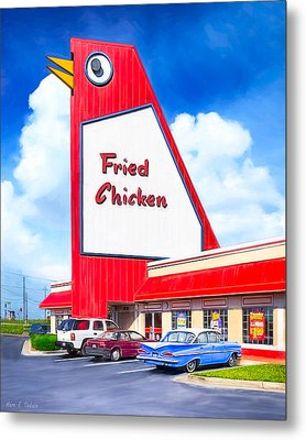 Marietta's Big Chicken Metal Print by Mark E Tisdale