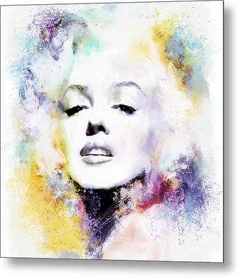 Marilyn American Beauty Metal Print by Shanina Conway