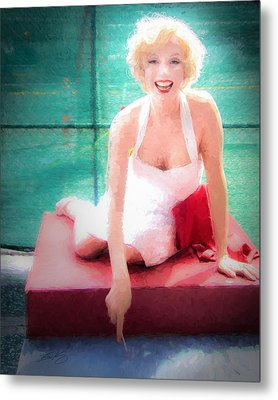 Metal Print featuring the painting Marilyn by Ike Krieger