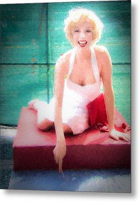 Marilyn Metal Print by Ike Krieger