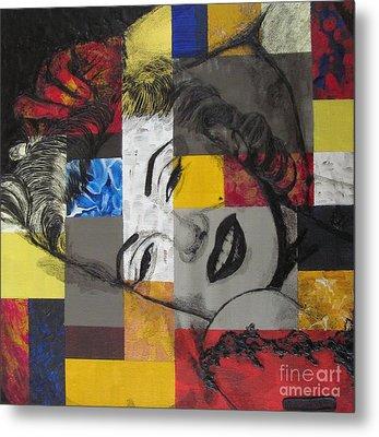 Marilyn In Abstract Metal Print by Malinda  Prudhomme