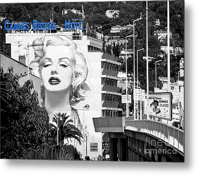 Metal Print featuring the photograph Marilyn In Cannes by Jennie Breeze