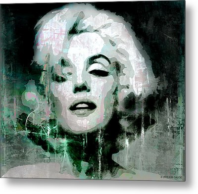 Marilyn Metal Print by Kim Gauge