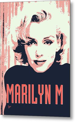 Marilyn M Metal Print by Chungkong Art