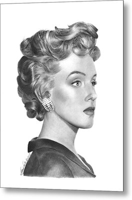 Metal Print featuring the drawing Marilyn Monroe - 014 by Abbey Noelle