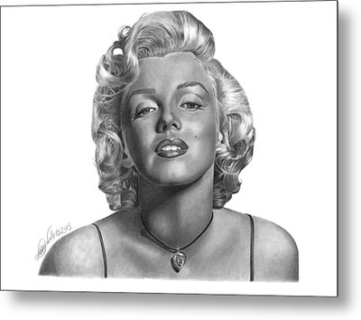 Metal Print featuring the drawing Marilyn Monroe - 018 by Abbey Noelle