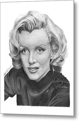 Metal Print featuring the drawing Marilyn Monroe - 025 by Abbey Noelle
