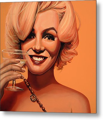 Marilyn Monroe 5 Metal Print by Paul Meijering