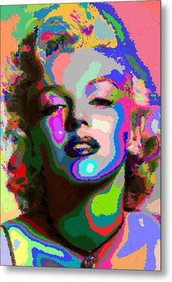 Marilyn Monroe - Abstract 1 Metal Print
