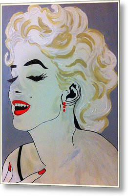Marilyn Monroe Beautiful Metal Print by Saundra Myles