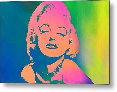 Marilyn Monroe Color Metal Print