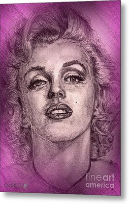 Marilyn Monroe In Pink Metal Print by J McCombie