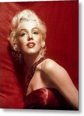 Marilyn Monroe In Red Metal Print