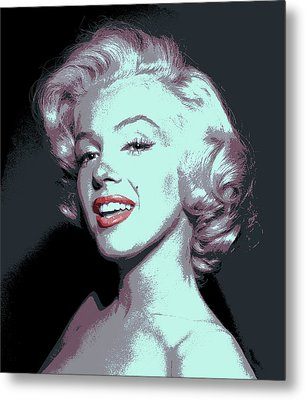 Marilyn Monroe Pop Art Metal Print by Daniel Hagerman