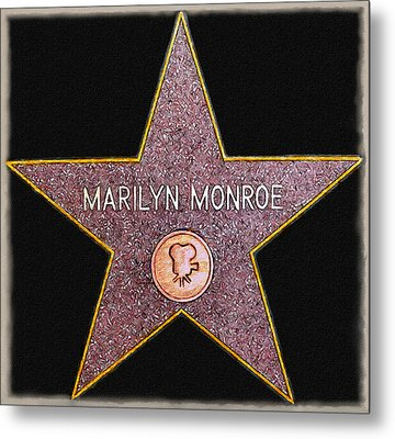 Marilyn Monroe's Star Painting  Metal Print by Bob and Nadine Johnston