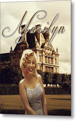 Marilyn Paris Monroe Metal Print by Greg Sharpe