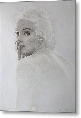 Marilyn Profile Metal Print