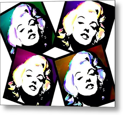 Marilyn Snapshots Metal Print by Cindy Edwards