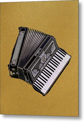Marilyn's Accordion Metal Print