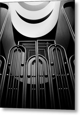 Marin County Government Complex Gate Metal Print by Jeff Brunton