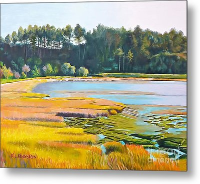 Marin County Marsh Metal Print by K L Kingston